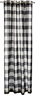 Lorraine Home Fashions 09570-84-00146 BLACK Courtyard Grommet Window Curtain Panel, Black, 53