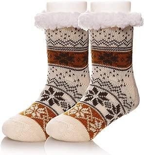 Kids Boy Girl Soft Thick Warm Snowflake Slipper Socks Winter Knit Fleece Fuzzy Children Home Socks