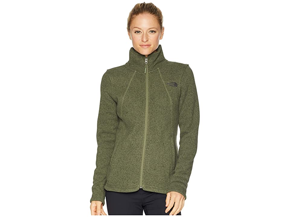 The North Face Crescent Full Zip (Four Leaf Clover Heather) Women