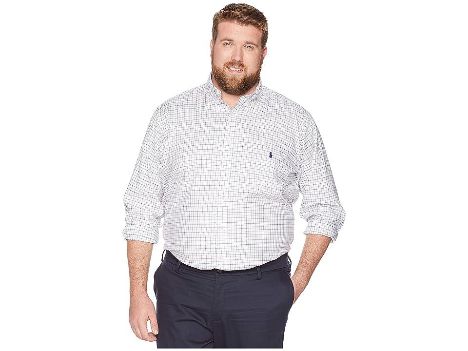 Polo Ralph Lauren Big Tall Lightweight Twill (Blanc/Cranberry Multi) Men