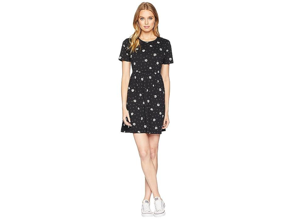 Vans Graduate Dress (Black Abstract Daisy) Women
