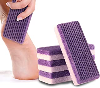 Pumice Stone Sponge Block Ultimate Pumi Bar - Premium 2 in 1 Callus Remover for Feet and Hands - Perfect Pedicure Tools for Exfoliation to Remove Dead Skin (Purple)