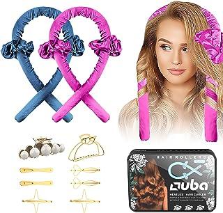 Sponsored Ad - 2 PCS OUBA Tik Tok Heatless [Hair Curlers] For Long Hair, No Heat DIY Hair Styling Tool Flexi Rod Headband ...