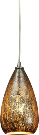 Elk Lighting 10254/1 天井ペンダント器具 ブラウン