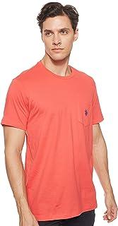 U.S. POLO ASSN. Mens Crew Neck Pocket T-Shirt With Small Pony