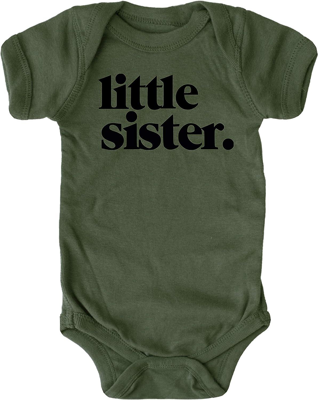 Olive Loves Apple Little Sister Bodysuit for Baby Girls Sibling Outfit