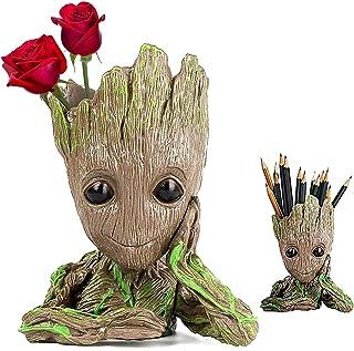 PA Creative Groot Planter Cute Baby Groot Pen Pot Groot Action Figures Pen Holders Groot Flowerpot Baby Model Toy is Best ...