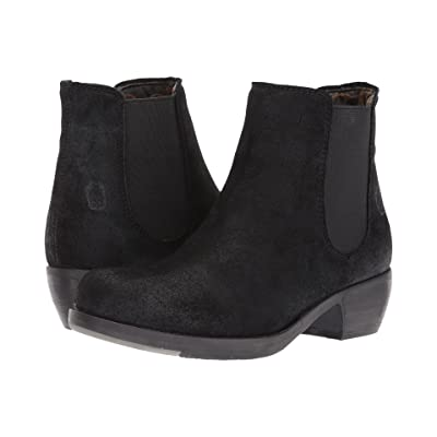 FLY LONDON Make (Black Oil Suede) Women