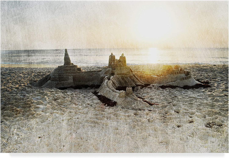 Trademark Fine Art Sand Castle I by Sharon Chandler, 12x19