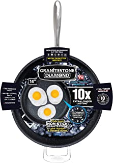 "GRANITESTONE 2592 Family Pan 14"" Non-stick, No-warp, Mineral-enforced Frying Pans With"