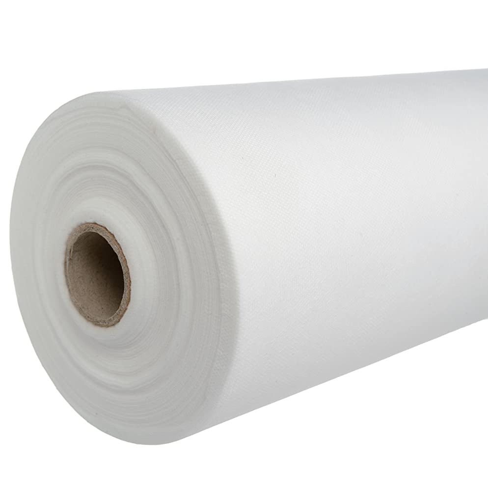 1 Perforated Roll, White Disposable Non-Woven Exam Bed Cover, 55 Sheets, 24 Inches X 330 Feet Massage Bed Sheets Disposable Bed Sheets Table Covers for Massage and Facial beds.