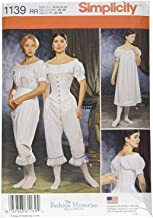 Simplicity 1139 Women's Civil War Historical Costume Sewing Pattern, Sizes 14-20