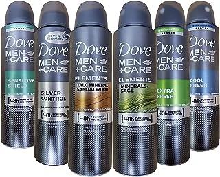 ضدعفونی کننده اسپری خشک و ضدعفونی کننده Dove Men Care 150 ML بسته 6 عطر مخلوط