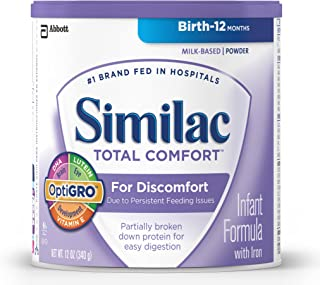Similac Total Comfort Infant Formula with Iron, Powder, 12.0 Ounces (Packaging May Vary)