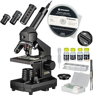 National Geographic 9039100 40 x 1024 Microscope Ensemble pour enfants et adultes avec fonction de lumière / translucidité...