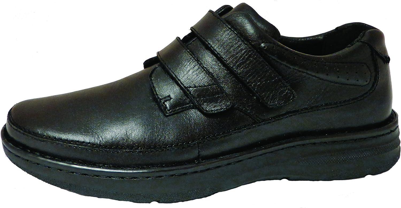Drew Shoe Men's Mansfield Casual Oxfords, Black Leather, 16 (6E)
