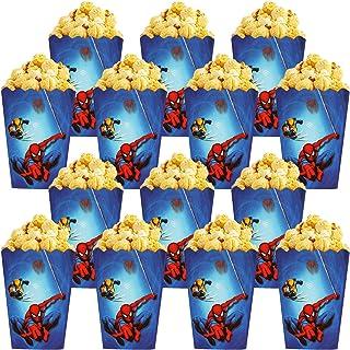 Qemsele Popcorn Tassen Popcorn Dozen, 30 Pack Cartoon Papieren Snoep Containers Popcorn Cups Party Bag Treat Boxes voor Ve...