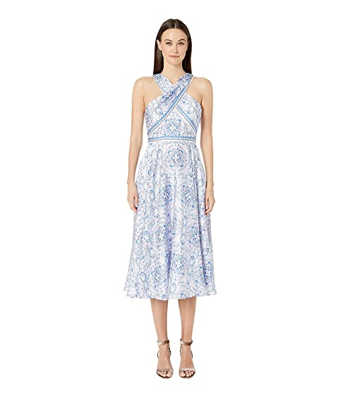cf49005fff9 ML Monique Lhuillier Long Dress with Wrapped Bodice at Zappos.com