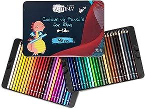 Artina Artilo dziecięce kredki do kolorowania 48 szt. zestaw drewnianych ołówków FSC® kredki zestaw nietłukące się i mocno...