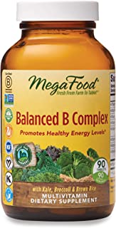 MegaFood, Balanced B Complex, Promotes Healthy Energy Levels, Multivitamin Dietary Supplement, Gluten Free, Vegan, 90 Tablets