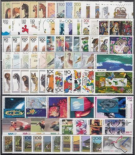 Goldhahn BRD Bund Zuschlagsmarken 1995-1999  postfrisch  komplett Briefmarken für Sammler