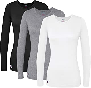 3 Pack Women's Comfort Long Sleeve T-Shirt/Underscrub Tee