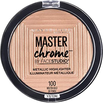 Maybelline Master Chrome Metallic Highlighter Powder, Molten Gold, 0 24 Ounce