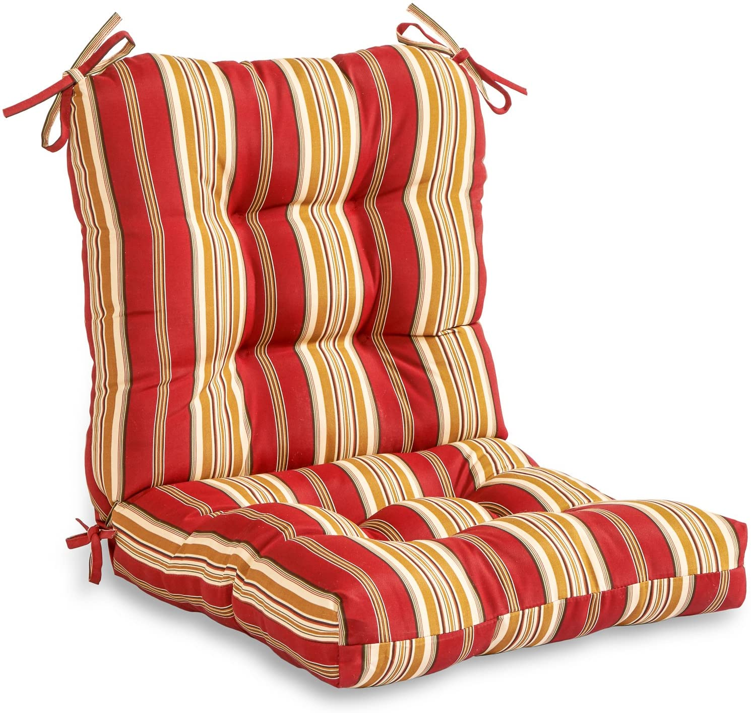 Greendale Home Fashions AZ20 ROMASTRIPE Tuscan Stripe 20'' x 20'' Outdoor  Seat/Back Chair Cushion, 20 Count Pack of 20
