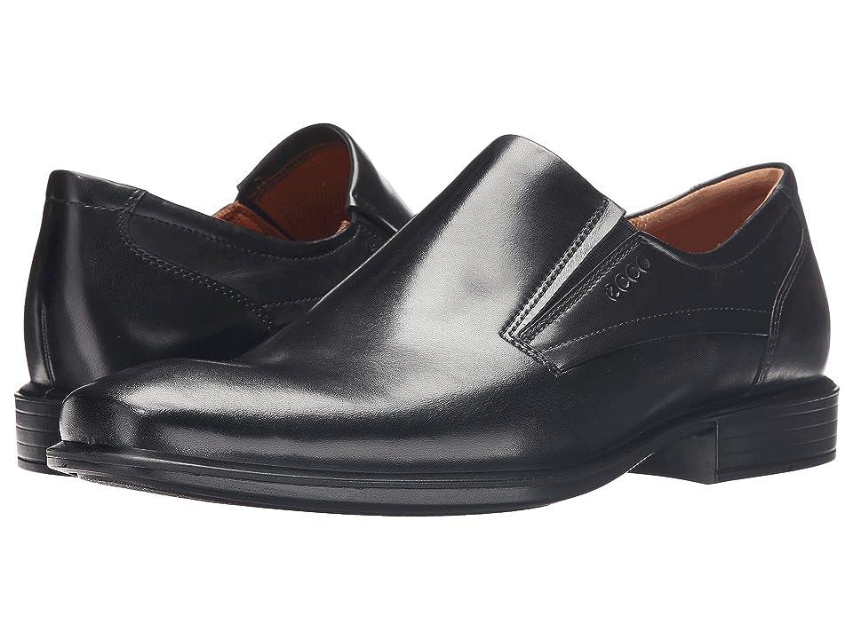 ECCO Cairo Plain Toe Slip On (Black) Men