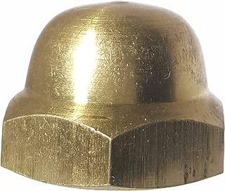5/16-18 Hex Cap Nuts, Solid Brass, Grade 360, Commercial, Plain Finish, Quantity 25