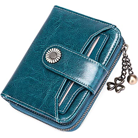 SENDEFN Monederos para Mujer, Cuero auténtico pequeño y Compacto Cartera para Mujer con protección RFID