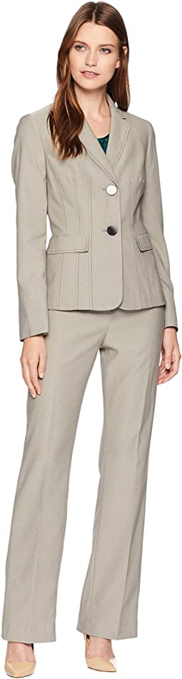 End On End Two-Button Pants Suit w/ Cami
