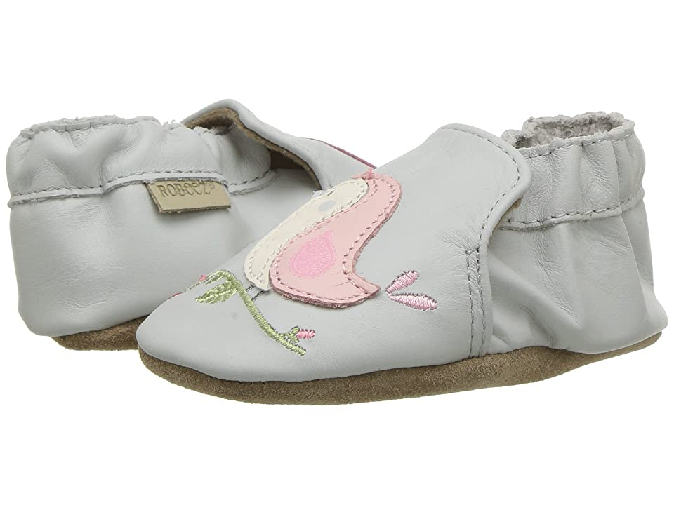 Robeez Bird Buddies Soft Sole (Infant/Toddler) (Light Grey) Girl