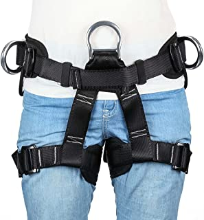 HandAcc Climbing Harness, Professional Mountaineering Safety Belt for Rock Climbing, Fire Rescue, Expanding Training and Other Outdoor Adventure Activities