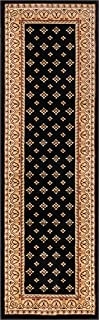 Noble Palace Black French European Formal Traditional Rug 3x10 ( 2'7