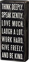 لافتة صندوق كلاسيكية من بريمتشيفز باي كاثي مقاس 10.16 سم × 22.86 سم، فكر بعمق