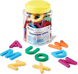 Learning Resources LER0450 Jumbo Uppercase Magnetic Letters Set