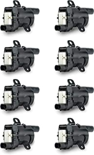 Ignition Coil Pack Set of 8 - Replaces 12563293, D585, C1251, 19005218 - Compatible with Chevrolet, GMC, Cadillac & Other ...