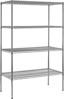 Sandusky WS482486-C Heavy Duty Steel Adjustable Wire Shelving, 800 lbs Capacity, 48