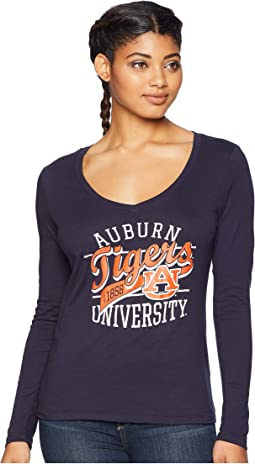 Auburn Tigers Long Sleeve V-Neck Tee