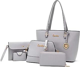 حقيبة يد سوبيرويلتون للنساء محفظة حمل حقيبة كتف بمقبض علوي حقيبة 5 قطع مجموعة محفظة