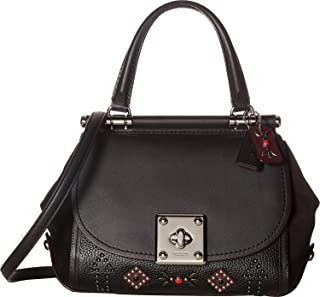 Women's Western Rivets Drifter Top-Handle Sv/Black Handbag