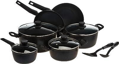 Winsor Non Stick 12 Pieces Cookware Set, Speckle BlueAluminium