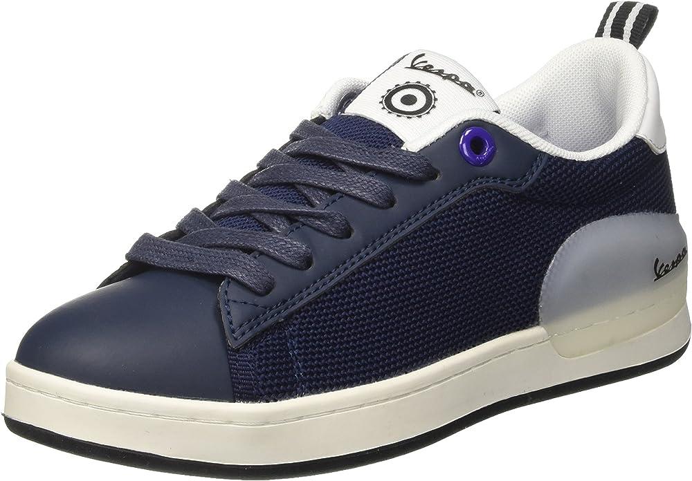 Vespa freccia, scarpe, sneakers per uomo, in pelle sintetica e tela, blu V00005B