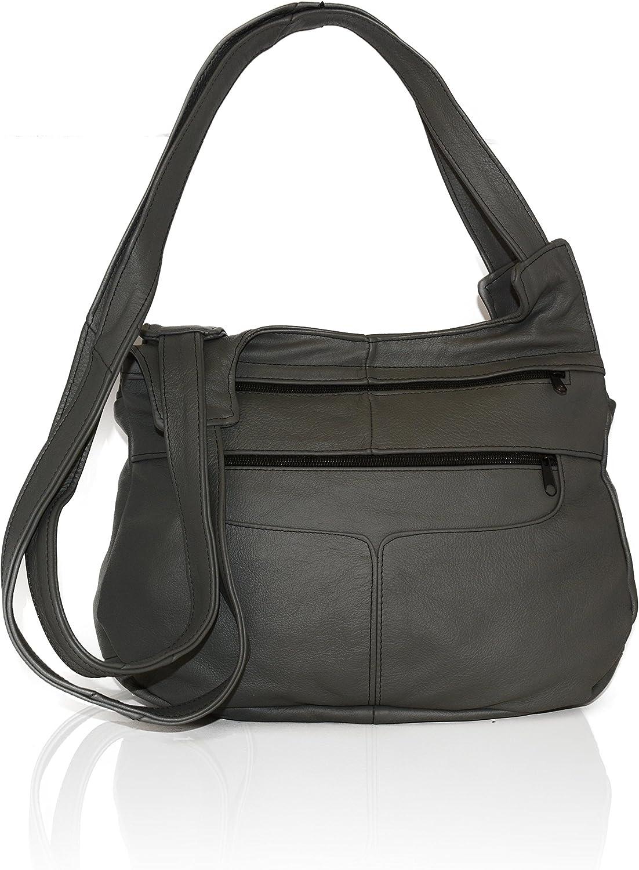 AFONiE Leather Handbag Women Shoulder/Crossbody Genuine Mexican Leather Hobo handbag