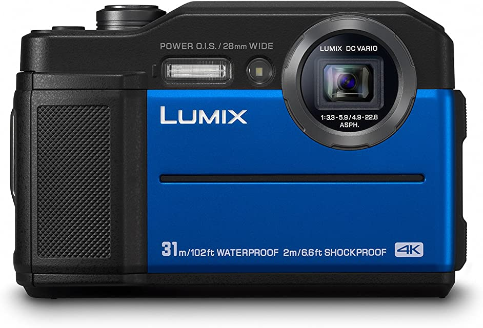Panasonic Lumix DC-FT7EG-A - Cámara 4K acuática sumergible 20.4 MP (resistente y compacta estabilizador visor LVF pantalla 3 Wi-Fi IPX8 polvo y congelación) color azul