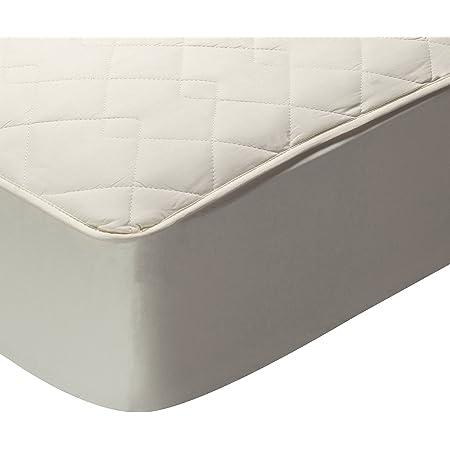 Pikolin Home - Protector de colchón acolchado (cubre colchón), 100% algodón (tejido y relleno), transpirable, 90x190/200cm-Cama 90cm (Todas las ...