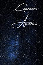 Capricorn/Aquarius Cusp Zodiac Blank Notebook: Essays | Composition | Diary | Journal | Writing | Large Medium 6 x 9 inches