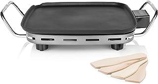 Princess Plancha Chef Mini Classic noire-28 x 28 cm-4 Personnes-1 900 W-Fonte d'aluminium