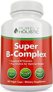 Vitamin B Complex - 8 Super B Complex Vitamins with Choline & Inositol, Vitamins B1, B2, B3, B5, B6, B8, B9 & B12 - B100 C...